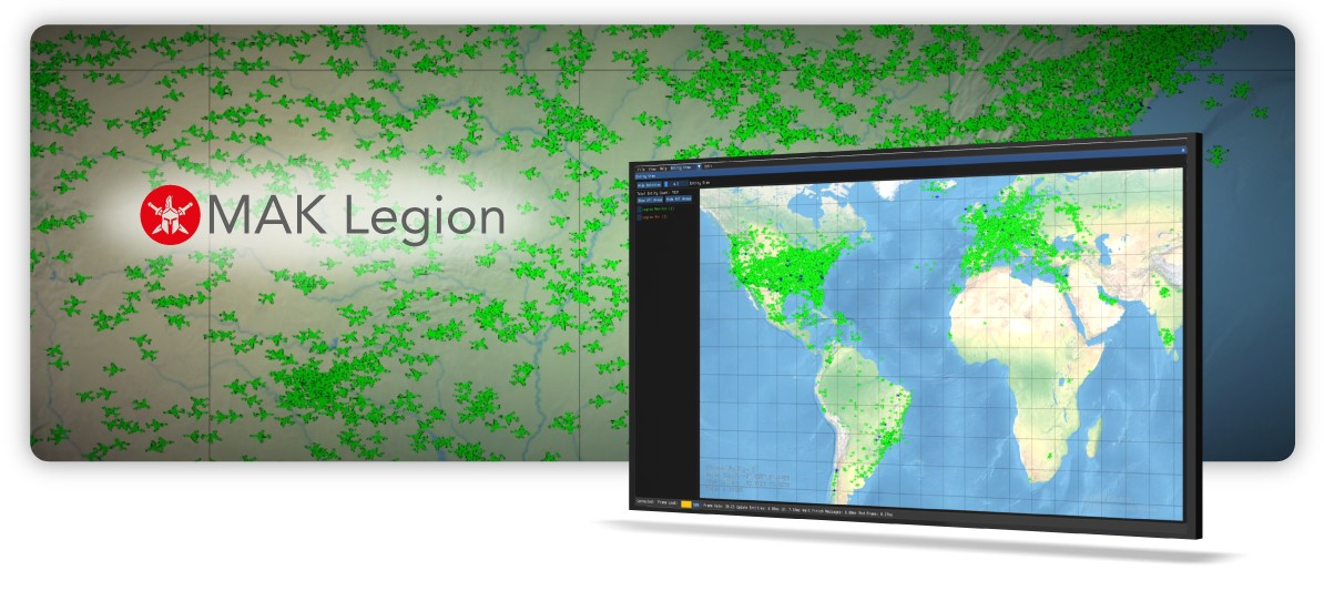 Introducing MAK Legion: a next-generation scalability and communication framework delivering millions of entities